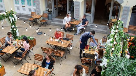 Eligible businesses can apply for a license to allow al fresco dining to help social distancing meas