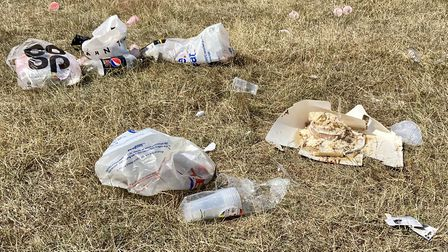 Rubbish left at Fairlop Waters golf course. Picture: Jenny Chalmers