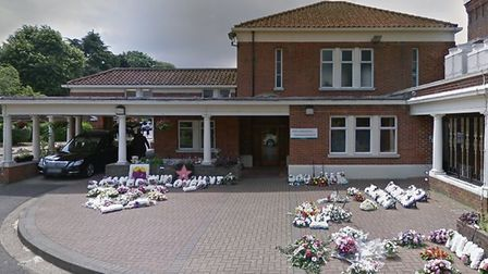 In April, a temporary mortuary was constructed in the main car park of the South Essex Crematorium a