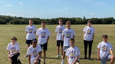 Nine of the boys from Hornchurch's Emerson Park Academy which have taken part in a 5k running challe