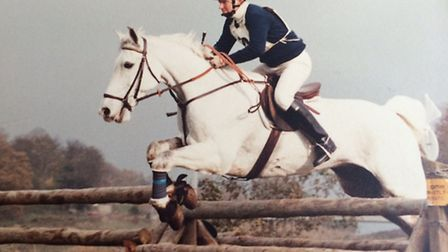 Peter Day taking part in the Hunter Trials in the late 1970's.