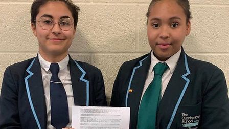 Myka Defoe and Sarah Carvalho have won places at Brit School. Picture: Tom Barnes