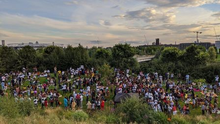 About 200 people descended on Queen Elizabeth Olympic Park on Saturday, July 18 for an illegal party