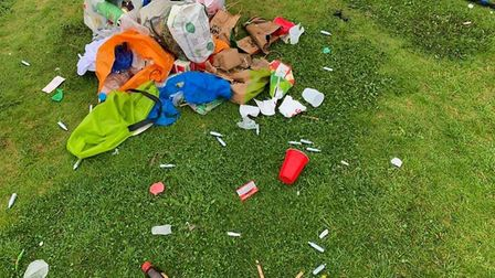 Revellers left behind litter including hippy crack canisters and empties. Picture: Submitted
