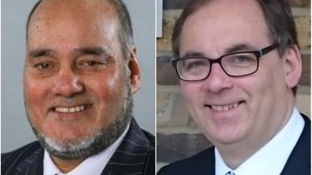 Acting cabinet member for education, Cllr Zulfiqar Ali (left), and Learning in Harmony Trust chief e
