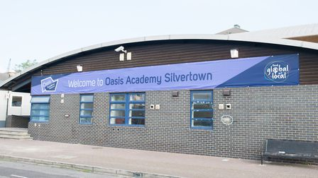 Oasis Academy Silvertown opened in the temporary building in 2014. Photo: Arnaud Stephenson