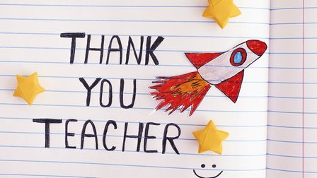 Parents and children can send a thank you message to their school or favourite teacher. Picture: Get