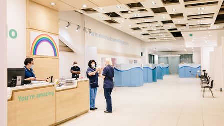 The assessment area in the Westfield Stratford City plasma donor centre. Picture: NHSBT