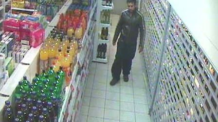 Aman Vyas in the shop in Markhouse Road, Walthamstow. Picture: Met Police