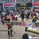 Protesters at the Black Lives Matter protest in Ilford, organised by BLM Redbridge. Picture: Hazel G