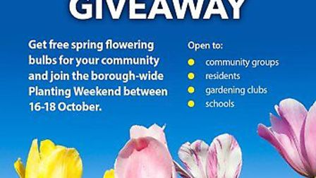 Redbridge Council's Neighbourhood Team are running another big bulb giveaway, where 40,000 spring bu