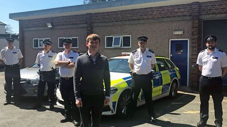 Leader of Havering Council, Damian White, inspector Rob McElroy, with Met Police and Havering Task F