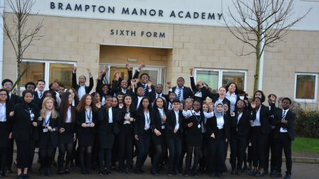 The Brampton Manor Academy pupils to receive Oxbridge offers. Picture: Sam Dobin