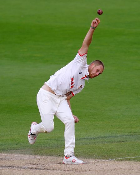 Essex's Jamie Porter bowls during day three of the Bob Willis Trophy match at 1st Central County Gro