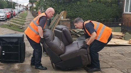 Havering Council's Clearance team was in Rainham to clear out belongings of council owned homes. Pic