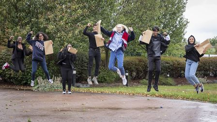 Pupils from the Cumberland School are celebrating after getting the GCSE grades needed to confirm th