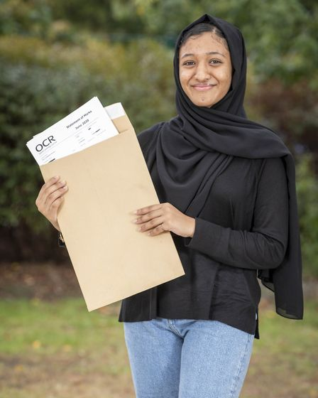 Maleehah Khan will be going to University College School. Picture: Nick Obank