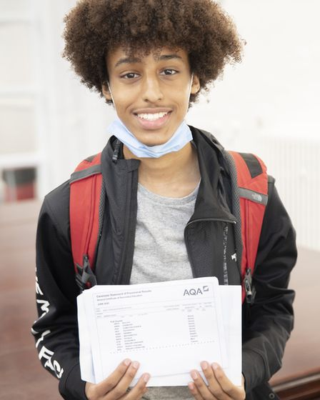 Ammar Adam got three 9s in computer science, German and electronics. Picture: ELSS