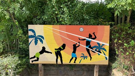 One member came up with this design which they are they hoping to put up near the volleyball court.