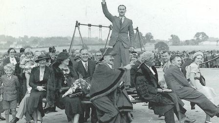 Charter Mayor CH Allen, the town clerk and prominent councillors at the opening of Rise Park in 1937
