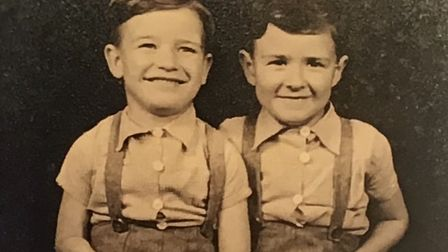 Ken Irons (left) and his twin brother Roy - Ken revisited his childhood in Seven Kings for his debut