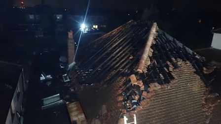 Investigators believe the fire was caused by hot works which were carried out on the roof. Picture: