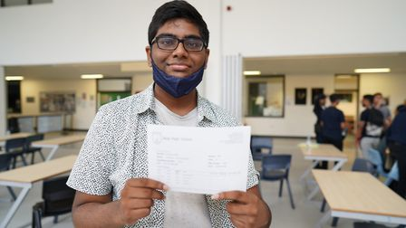 Archchun Karunananthan received three A* and one A. Picture: Jevon Harding