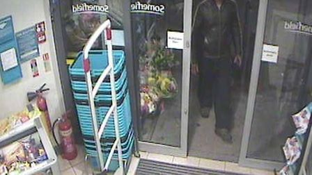 CCTV footage showing Vyas entering the shop in Markhouse Road. Picture: Met Police