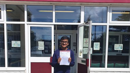Apurva Bhattacharyya, has received the highest GCSE grade in all his other subjects with eight Grade