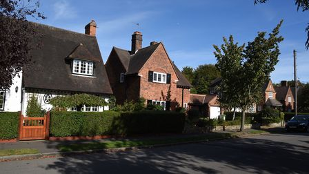 Houses in The Meadway in Gidea Park. Picture: Ken Mears