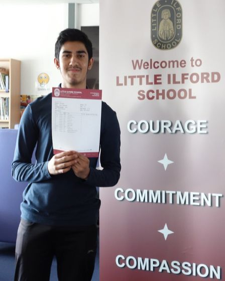 Umar Siddique received nine 9s and two 8s in his GCSEs. Picture: Cait Chamberlain