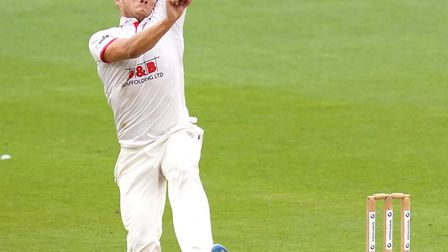 Essex's Aaron Beard bowls during day two of the Bob Willis Trophy match at 1st Central County Ground