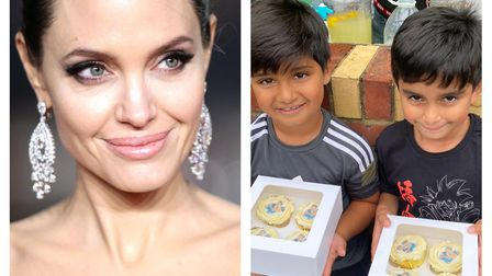 Angelina Jolie surprised two boys in Seven Kings with a large donation to their fundraiser to help s
