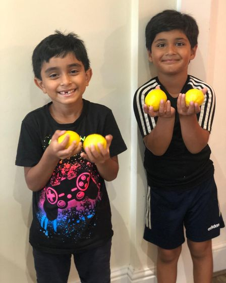 """Ayaan (right) said he hopes their story going viral will help raise """"trillions and trillions of doll"""