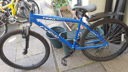 This blue bike was already sold and set to be delivered to a 15-year-old boy were the callous thieve