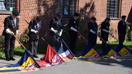 Six standard bearers were included in the service - The Royal British Legion for Elm Park, Chingford