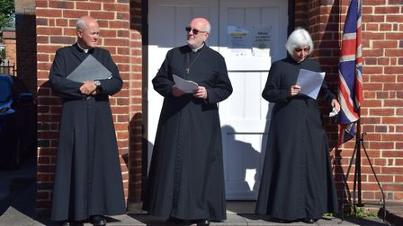 L-R: Father David Perry, Father Tom Keighley and Reverand Amanda Keighley, all of whom were involved