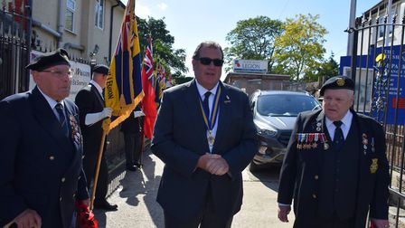 Councillor Barry Mugglestone from the Residents' Group party attended the ceremony as part of his wo