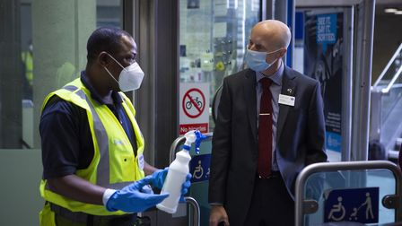 Commissioner Andy Byford meets Underground station staff. Picture: Nick Turpin