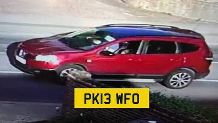 Police have put out an image of the car they believe was used in the abduction, a Nissan Qashqai, re