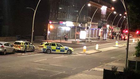 A 39-year-old man was arrested on suspicion of assaulting a police officer but there have been no ar