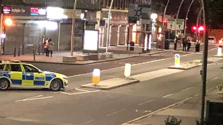 A police officer was assaulted after responding to a fight in Cranbrook Road on Monday.