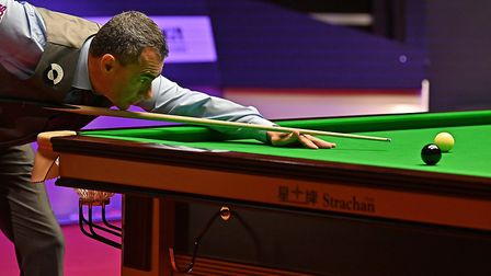 Hornchurch snooker player Gary Filtness in action (Pic: Andy Chubb/World Professional Billards and S