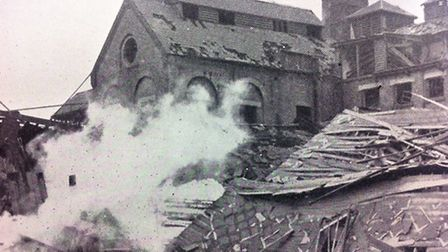 The Brewery, Romford, was hit by rockets in December 1940. Picture: Brian Evans