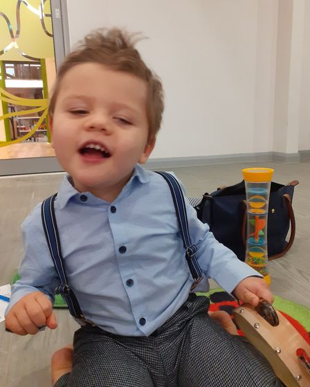 Three-year-old Eddie Mylroi attended the First Steps education service for six months prior to lockd