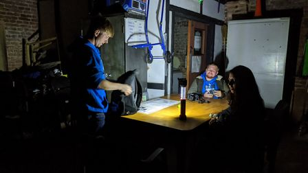Setting in the barn Paranormal Essex