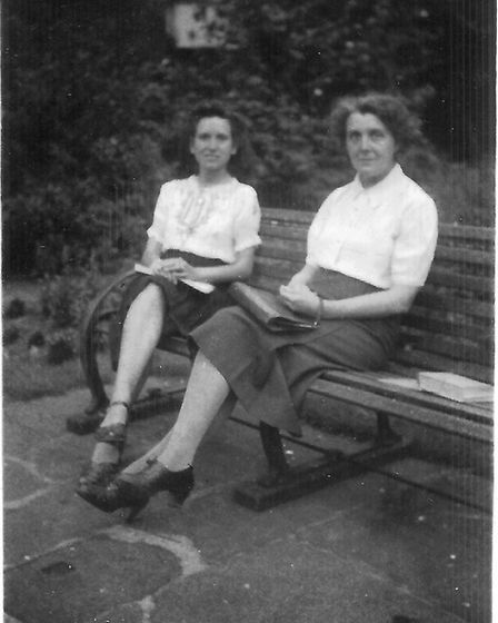 Phyllis pictured with her mother Alice in Liverpool, where Phyllis will be buried after being born i
