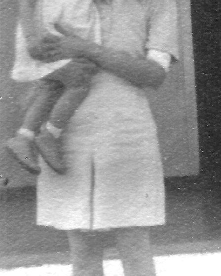 An old photo of Phyllis holding a baby Alexandra. Picture: Alexandra Wilde