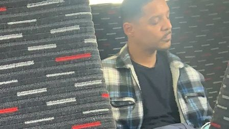 British Transport Police would like to speak to this man following an incident on a train travelling