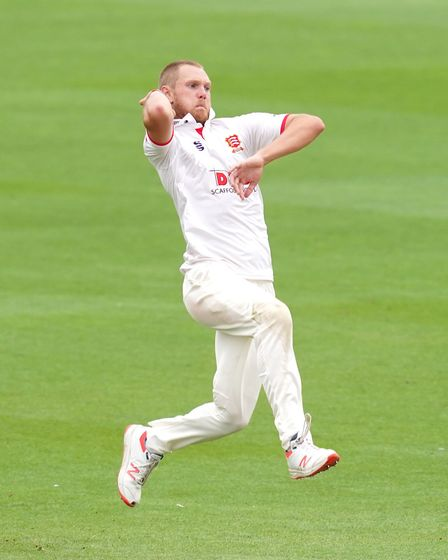 Essex's Jamie Porter bowls during day two of the Bob Willis Trophy match at 1st Central County Ground, Hove.